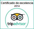 Certificado de Excelencia 2014 Tripadvisor