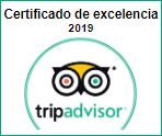 Certificado de Excelencia 2019 Tripadvisor